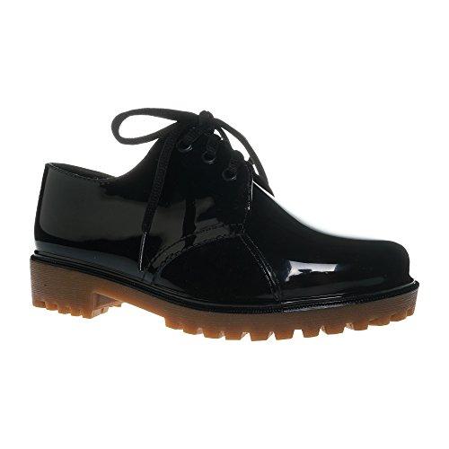 Jelly Jolly Regen Stiefel Wasserdichte Frauen Black