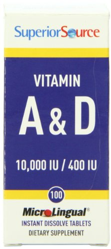 Superior Source Vitamin A 10,000 IU and Vitamin D 400 IU Dietary Supplement, 100 Count