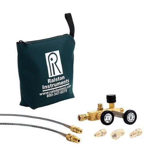 "Ralston Instruments QTCM-3KPSIG-D Calibration Manifold w/Digital Gauge; 1/4"" NPTF/Brass"