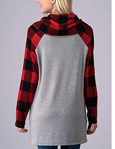 Femmes Carreaux À Sweatshirts Rouges Naliha Pour Sweatshirt q4Yazz
