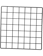 Prettyia Wire Wall Grid Panel, Photos Pictures Display Grid Wall Panels, Metal Wall Hanging Grid for Organizer Photo Memo Wire Board Home Office Kitchen Decor