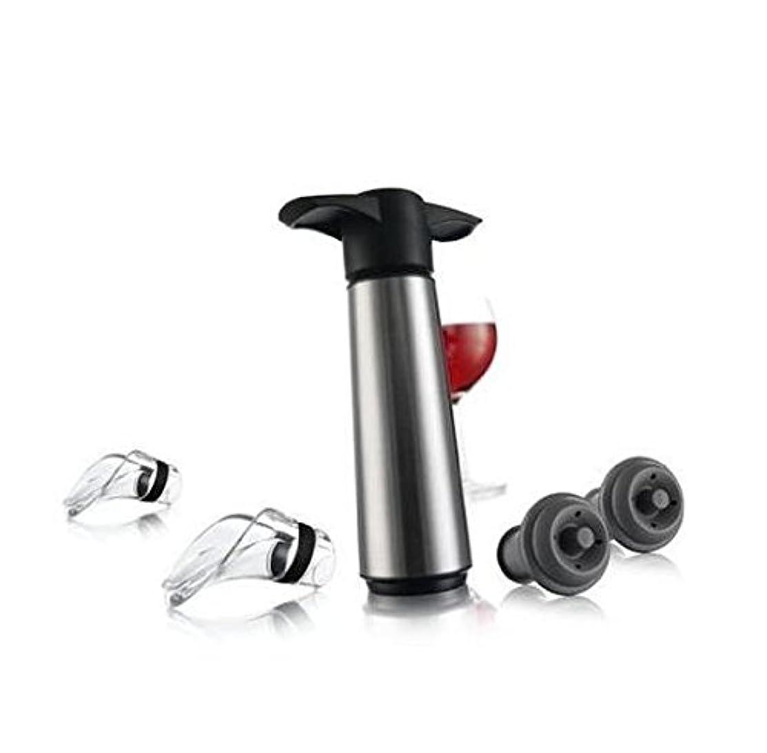 引数渇き誰がワインストッパー 真空ポンプで ボトルストッパー ワインキャップ 替栓 酸化を防 新鮮キープ トルキャップ ???????? ??????????? ???? バー用品 真空式 ハート形 テイパード ゴム ステンレス バキュームポンプ ワインセーバー セット4個