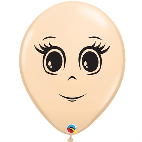 Qualatex Feminine Face 16 Inch Latex Balloons (Blush, 10 Pack)