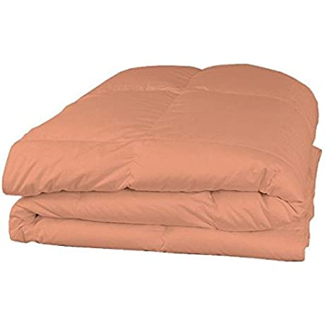 Luxury 600 Thread Counts 7pc Bed In A Bag With 300GSM Comforter Expanded Queen Super Queen Size Peach Solid 100 Egyptian Cotton By PARADISEHOUSE