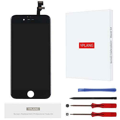 YPLANG Screen Replacement Black Compatible for iPhone 6 Screen Replacement LCD Display Digitizer Frame Assembly Full Repair Kit