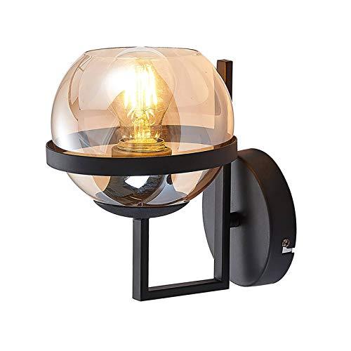 Lindby wandlamp 'Marinka' (modern) in Zwart uit overige metaal o.a. voor woon-/ eetkamer – wandlamp, muurlamp…