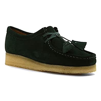 Clarks Women's Wallabee Dark Green Suede 7 M