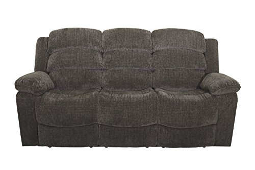 New Classic Austin Full Power Dual Recliner Sofa with Power Headrest, Stone