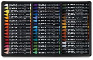 LYRA Aquacolor Water-Soluble Wax Crayons, Set of 48 Crayons, Assorted Colors (5611480) by Lyra (Image #2)