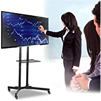 Yaheetech Versatile Mobile TV Stand Fits 81-165cm For LCD LED Plasma Flat Screen Capacity up to 50kg