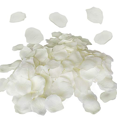 Royal Imports Ivory Silk Flower Artificial Rose Petals for Wedding Aisle, Party Favor & Table, Vase, Home Decoration, 1000 PCS
