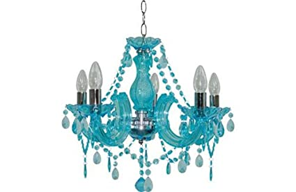 new concept 126f2 f50ca Inspire 5 Light Teal Chandelier.: Amazon.co.uk: Kitchen & Home