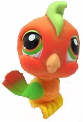 Amazon Com Hasbro Littlest Pet Shop Tropical Cockatoo Parrot Toucan Bird 394 Orange Yellow Green With Orange And Green Eyes Lps Loose Figures Replacement Pets Lps Collector Toy Out