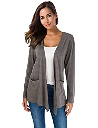 Women's Loose Casual Long Sleeved Open Front Breathable...