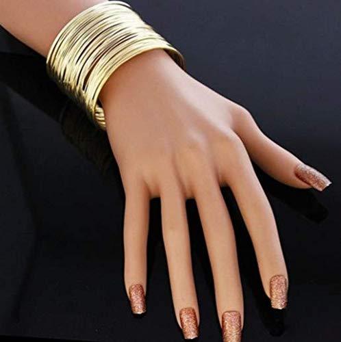(1PCS Cuff Bracelets Bangles For Women Brass Copper Adjustable cuff bangle bracelet wide cuffs Fashion)
