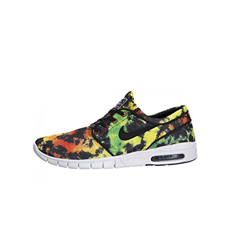 Nike Stefan Janoski Max Premium Shoe - Men's Tour Yellow/Green Pulse/University Red, 11.0