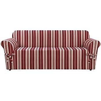Cool Surefit Stripe Sofa Slipcover Multicolored Ncnpc Chair Design For Home Ncnpcorg