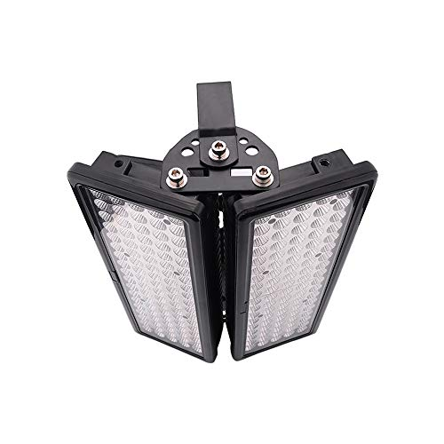 Super bright LED Security flood light outdoor 200 Watt Assembly - Large work flood light set 2 head light fixture,Waterproof IP67,6000K Daylight White,2000W halogen incandescent lamp bulb Equivalent