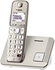 PANASONIC KX-TGE210CXN Digital Cordless Phone, Champagne Gold