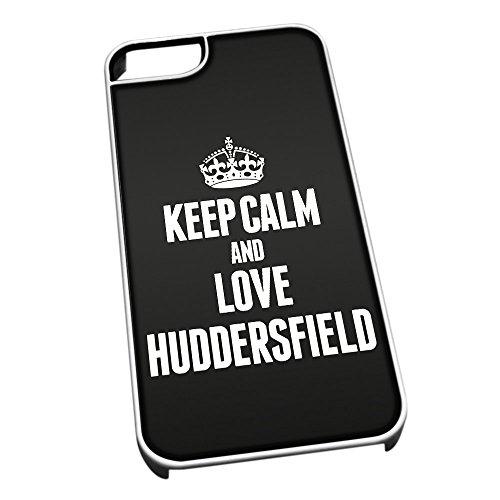 Bianco Custodia protettiva per iPhone 5/5S 0346NERO Keep Calm e Love Huddersfield ield