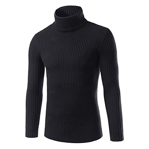 Sunmiles Men's Casual Loose Long Sleeve Pullover Sweaters Jumper Fashion High Neck Thick,