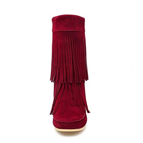 YL Women's Boots Wine Red j27UzLp