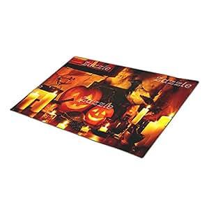 TPerse8 Doormat Halloween Pumpkin Lantern Go Away Doormat