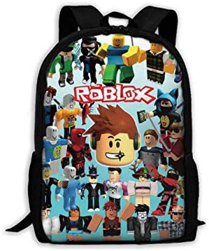 suzzc Ro-blox Backpack Waterproof Laptop Daypack for College Cycling Climbing