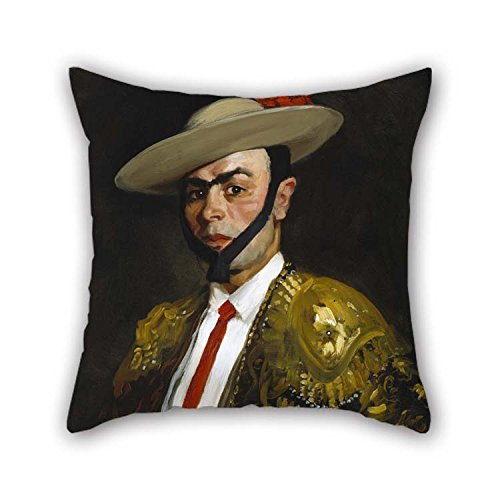 Oil Painting Robert Henri - Calero (Antonio Ba?os) Cushion Covers 16 X 16 Inches / 40 By 40 Cm Best Choice For Son Family Monther Coffee House Deck Chair Her With Both Sides Calero Cover