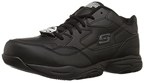 01. Skechers for Work Men's Felton Slip Resistant Relaxed-Fit Work Shoe