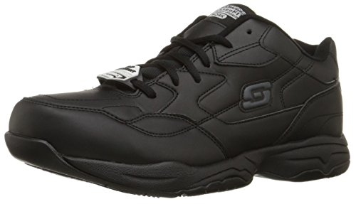 Skechers for Work Men's Felton Shoe, Black, 8.5 XW US