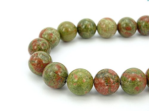 Top Quality Natural Unakite Jasper Gemstone Beads 10mm Round Loose Beads 15.5