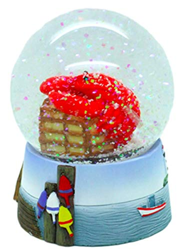 Red Lobster Snow Globe - Waterball with Cape Cod Lobster