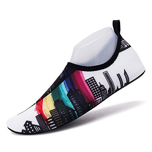 SK12 Zapatos rápido piel amantes Lucdespo natación playa pies natación zapatos de de luz la descalzos calzado Ciudad secado zapatos y pegada A0AxvHqw