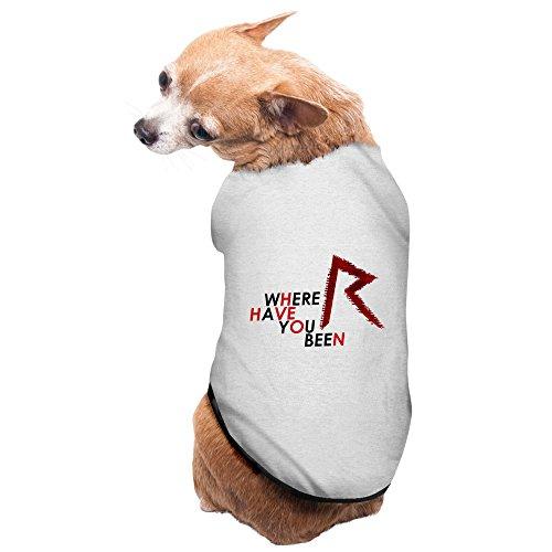 [Gray Rihanna Barbadian Singer Talk That Pet Supplies Dog Shirt Puppy Hooded] (Scissors Paper Rock Costume)
