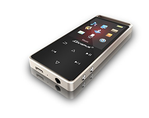 8GB MP3/MP4 Bluetooth Music Player with 1.8 inch Screen, Support FM/E-Book/Clock/Recorder Expandable Up to 64GB TF Card
