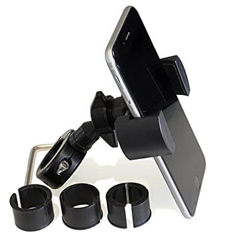 USA Made Universal Motorcycle Handlebar Smart Phone & GPS Mount Kit - Techmount 4-30912-B-TECHGRIPPER - Black - Includes Everything Needed to Ride Safe With Your Smartphone or Other - Ride System