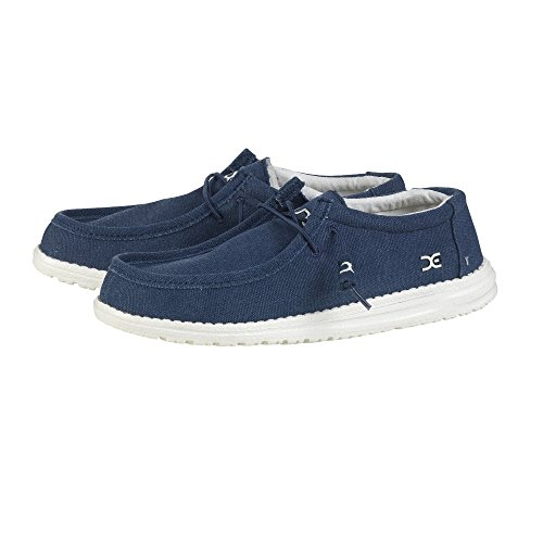 Dude Shoes Men's Wally Classic Sea Blue Blu (blu)
