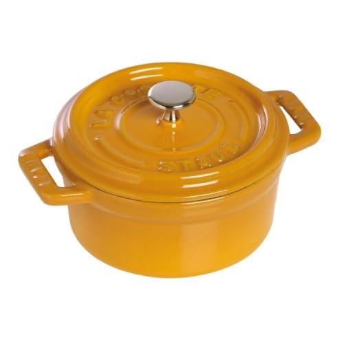 Staub Pico cocotte round 10cm mustard 40510-636