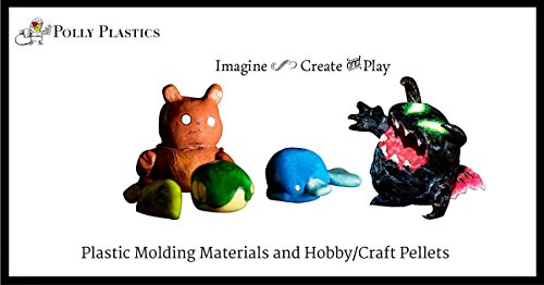 Polly Plastics Moldable Plastic and Color Pellet Kit. 35 oz. Moldable Plastic. Blue, Red, Yellow, Black, White, Gold, Silver. Idea Booklet & Color Chart Included. by Polly Plastics (Image #3)
