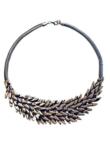 RainTraders Game of Thrones Inspired, GoT, Daenerys Targaryen, Mother of Dragons, Khaleesi, Dragon Wing Scale, Bird Feather, House Stark, Necklace, Gift for Her, Costume Jewelry]()