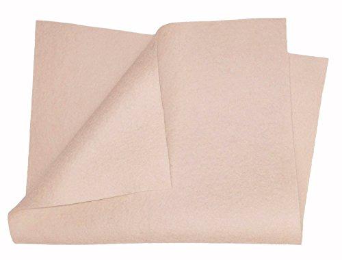"(100% Merino Wool Craft Felt - 8"" x 12"" sheet - LIGHT SKIN)"