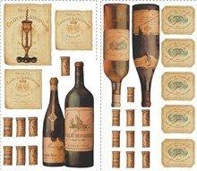 Huge Set Over 100 Wine Tasting Wall Decals Grapes Corks Labels ()