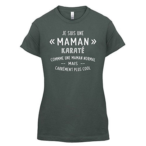 une maman normal karaté - Femme T-Shirt - Gris foncé - L