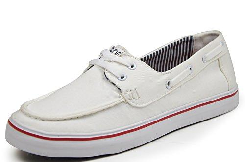 s.Oliver 24630 Damen Sneaker in Segelschuhoptik, Soft Foam, weiß
