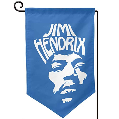 Sunmoonet Garden Flag Jimi Hendrix American Rock Guitarist Face Logo Home Yard Holiday Flags Double Sided Decorative House Decor Flag