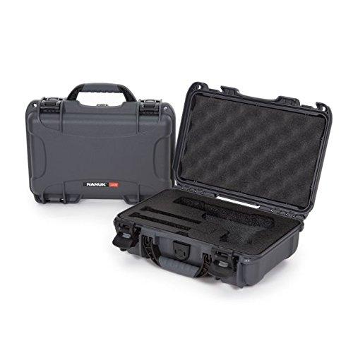 (Nanuk 909 Waterproof Professional Classic Pistol/Gun Case, Military Approved with Custom Insert - Graphite)