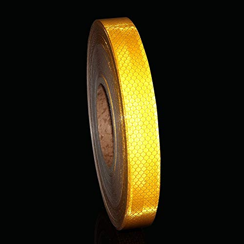 Ganos Bike Carbon Frame - 2.5x45.7m Bicycle Safety Warning Reflective Adhesive Tape Frame Protector Sticker Wheel Stickers Strips
