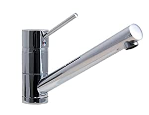 Kludi Scope 339330575 DN10 - Grifo mezclador monomando para fregadero, color cromo
