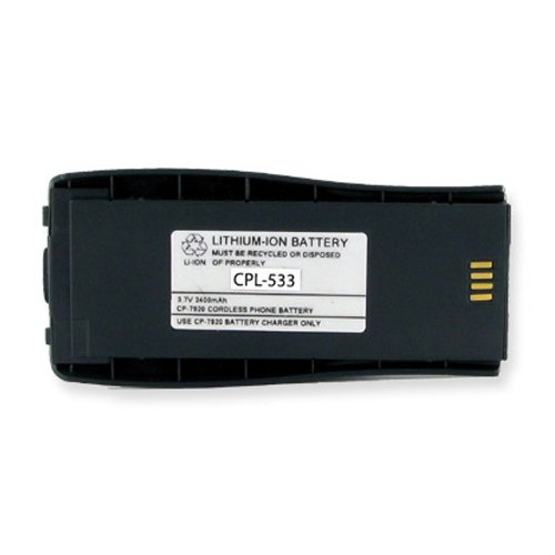 Cisco CP-BATT-7920-STD Cordless Phone Battery Li-Ion, 3.6 Volt, 2400 mAh - Ultra Hi-Capacity - Replacement for Cisco 7920 Rechargeable Battery